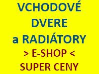 Lacné vchodové dvere a radiátory - e-shop